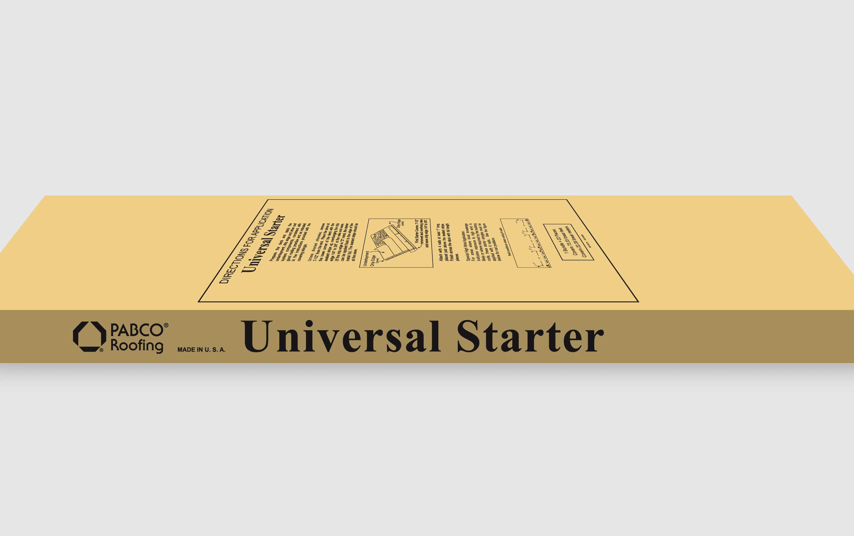 Universal Starter Shingle Bundle.